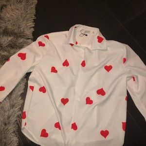 Nasty Gal Tops - ♥️NEW LISTING!  Nasty Gal Oversized Heart Blouse!
